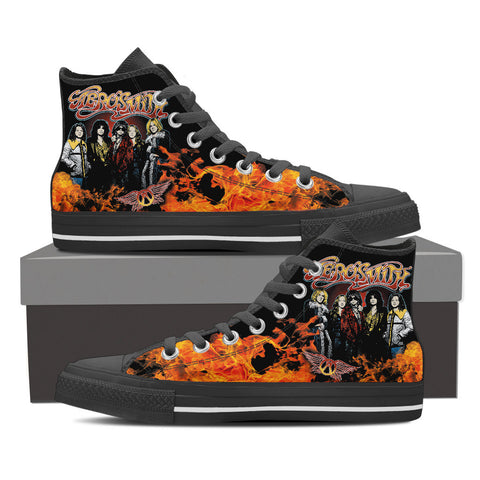 Aerosmith High Top Canvas Shoe