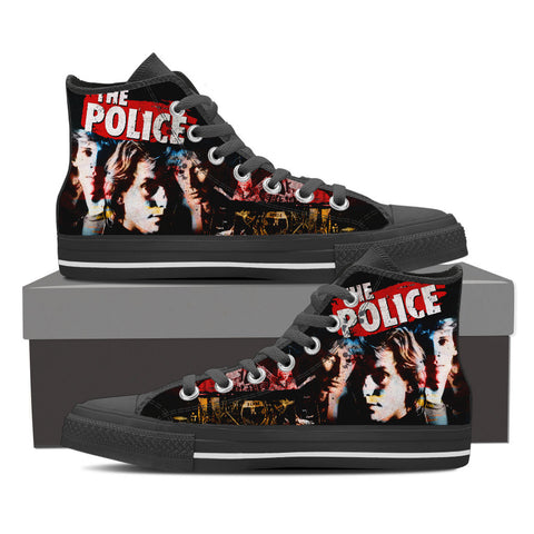 The Police High Top Canvas Shoe