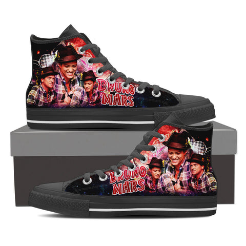 Bruno Mars High Top Canvas Shoe