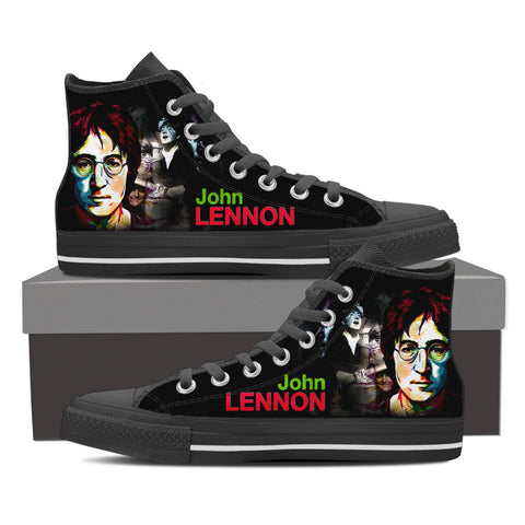 John Lennon High Top Canvas Shoe