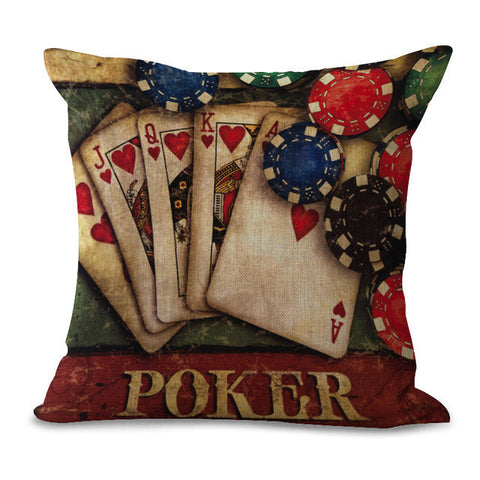 Poker Pillow Cases