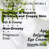 What is the best natural Eye Cream that works? Made from Natural & Organic Ingredients? Naturally Naked has a full line of nature inspired products. Purchase your beauty products today. Kosher Skincare.