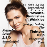 What is the Best Natural & Organic Retinol? 2.5% Retinol Serum & Moisturizer? #1 Recommended Dermatology Product. Purchase Your Naturally Naked Skincare Today! Anti Wrinkle Serum & Anti Aging Gel, Helps Diminish Wrinkles, Crows feet, Crepey skin, Fine Lines with Hyaluronic Acid, Vitamin E, Kosher Cert Mat.