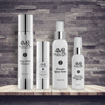 Regenerating Serum kit: Deep AHA Cleanser, Oceanic Toner, Regenerating Serum,  Protection SPF 30