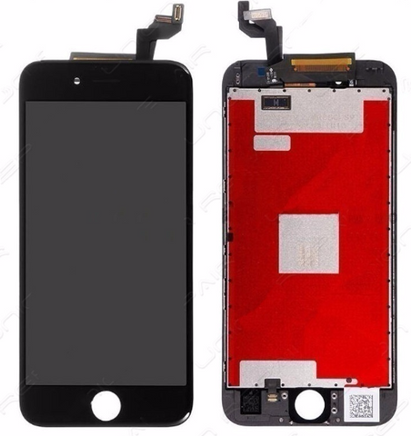 Glass and Digitizer with LCD Assembly - Black (iPhone 6S)