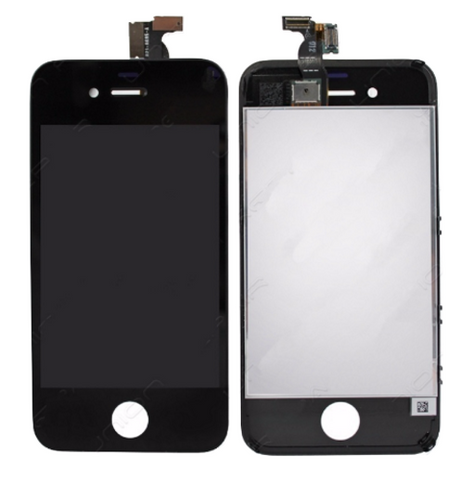 Glass and Digitizer with LCD Assembly - Black (iPhone 4 GSM)