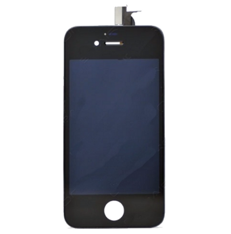 Glass and Digitizer with LCD Assembly - Black (iPhone 4s)