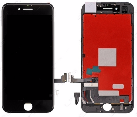 Glass and Digitizer with LCD Assembly - Black (iPhone 7)