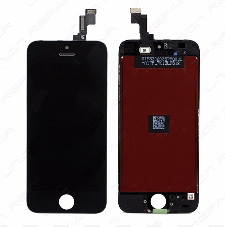 Glass and Digitizer with LCD Assembly - Black (iPhone SE)