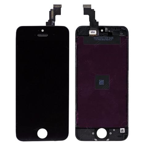 Glass and Digitizer with LCD Assembly - Black (iPhone 5c)
