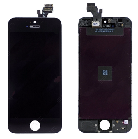 Glass and Digitizer with LCD Assembly - Black (iPhone 5)