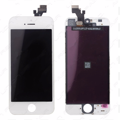 Glass and Digitizer with LCD Assembly - White (iPhone 5)
