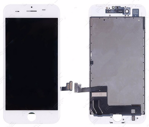 Glass and Digitizer with LCD Assembly - White (iPhone 7)