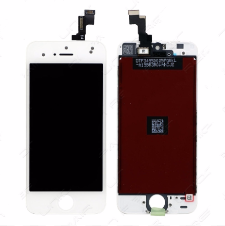 Glass and Digitizer with LCD Assembly - White (iPhone SE)