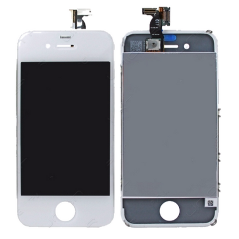 Glass and Digitizer with LCD Assembly - White (iPhone 4 GSM)