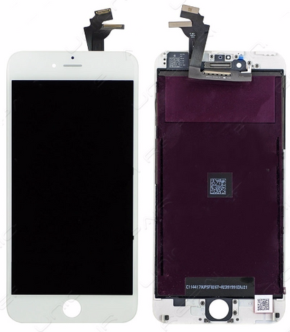 Glass and Digitizer with LCD Assembly - White (iPhone 6 Plus)
