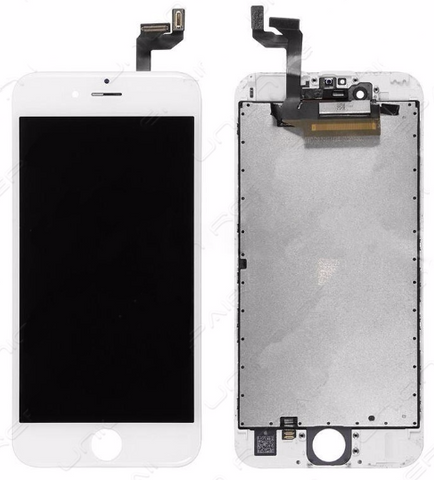 Glass and Digitizer with LCD Assembly - White (iPhone 6S)