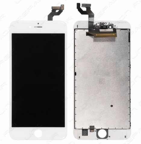 Glass and Digitizer with LCD Assembly - White (iPhone 6S Plus)