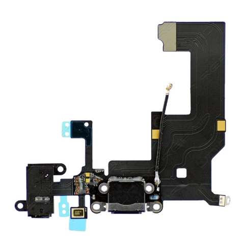Charging Port with Headphone Jack Flex Cable - Black (iPhone 5)