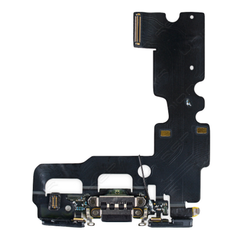 Charging Port with Headphone Jack Flex Cable - Black (iPhone 7)
