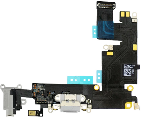 Charging Port with Headphone Jack Flex Cable - Light Gray (iPhone 6 Plus)