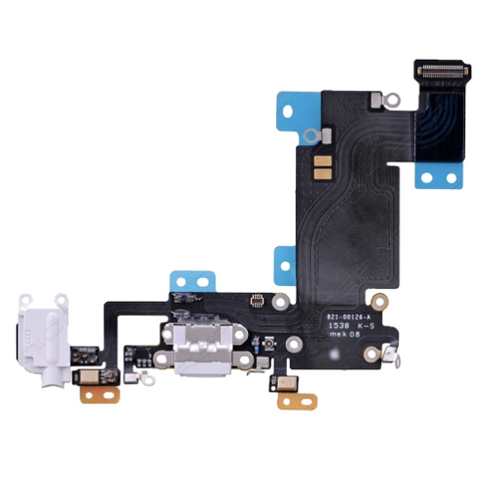 Charging Port with Headphone Jack Flex Cable - White (iPhone 6S Plus)