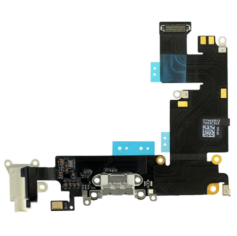 Charging Port with Headphone Jack Flex Cable - White (iPhone 6 Plus)
