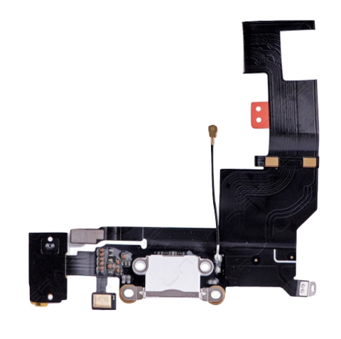 Charging Port with Headphone Jack Flex Cable - White (iPhone SE)