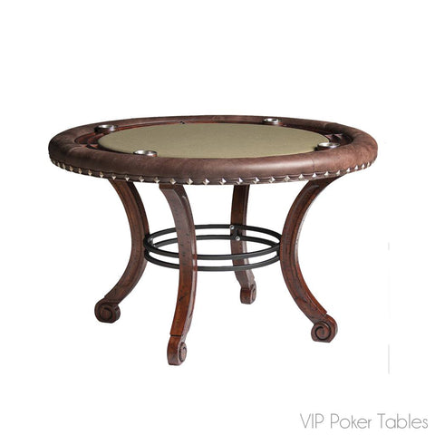 "Poker Table - 54"" 4-Person Maple Madrid Round Poker Dining Table By Darafeev"