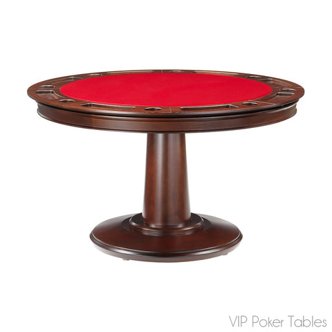 "Poker Table - 54"" 8-Person Maple Liberty Custom Round Poker Dining Table By Darafeev"