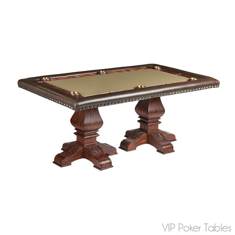 "Poker Table - 68"" 6-Person Barcelona Custom Rectangular Poker Dining Table By Darafeev"