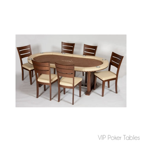 "Poker Table - Arseno 72"" La Bristol Custom Texas Hold 'Em Poker Dining Table"