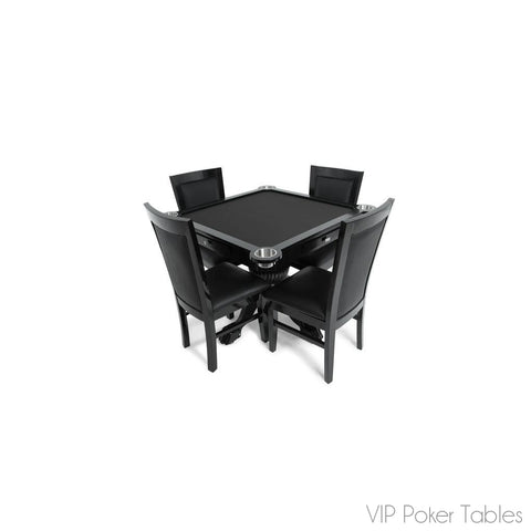 "Poker Table - BBO 40.5"" Levity BBOLEVITY 4-Person Custom Square Poker Table"