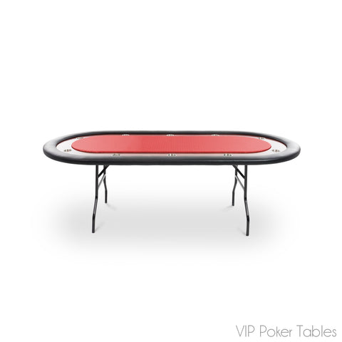 "Poker Table - BBO 92"" 10-Person Ultimate BBO05-13BLK Custom Foldable Poker Table"