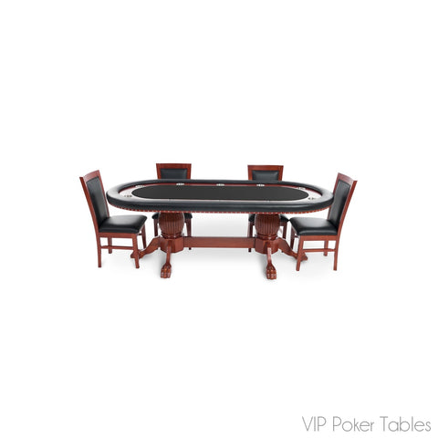 "Poker Table - BBO 93"" The Rockwell BBO-1174BLK 8-Person Custom Poker Dining Table"