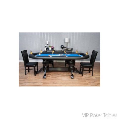 "Poker Table - BBO 94"" 10-Person The Elite BBOELITE-BLK Poker And Dining Table"