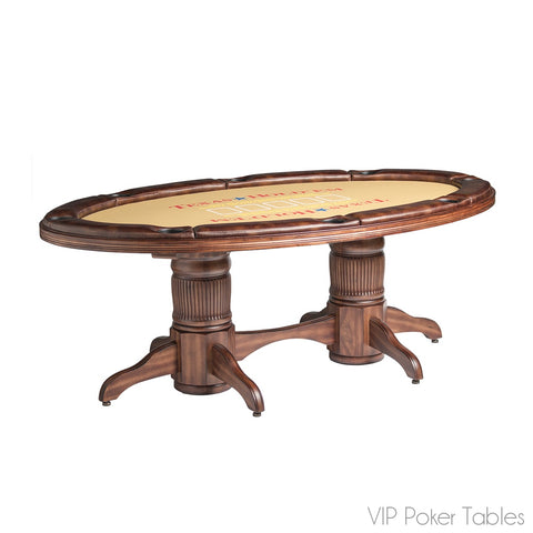 "Poker Table - Darafeev 85"" THP 8-Person Texas Hold 'Em Game Table"
