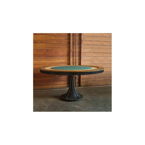 "Poker Table - District 8 63"" Industrial Round Meatpacking District Bachelor Pad Poker Table"