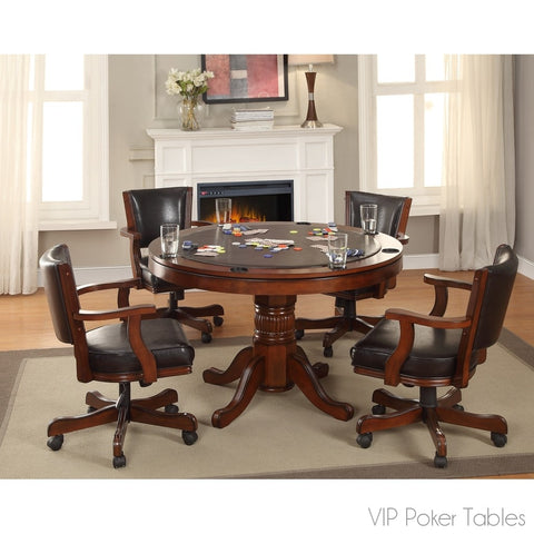 "Poker Table - Furniture Of America 48"" Portia IDF-GM340T Poker Dining Table"