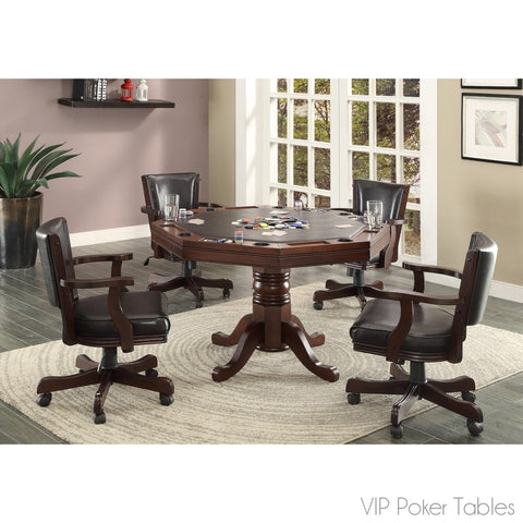 "Poker Table - Furniture Of America 48"" Rowan IDF-GM339T Poker Dining Table"