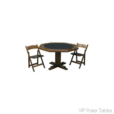 "Poker Table - Kestell 52"" Oak 8-Person O-98 Pedestal Poker Table"