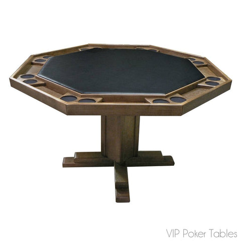 "Poker Table - Kestell 57"" Oak 8-Person O-86 Pedestal Poker Table"