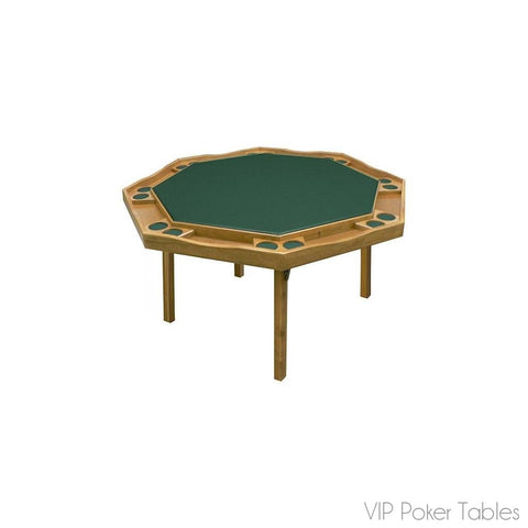 "Poker Table - Kestell 57"" Oak Period Style 8-Person O-85 Folding Poker Table"