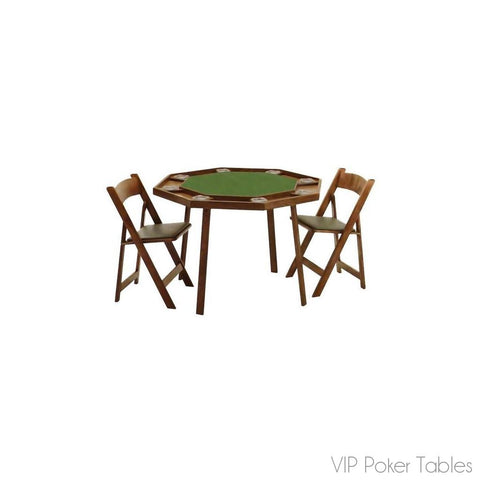 "Poker Table - Kestell Compact 46"" Oak O-9W Folding 10-Person Poker Table"