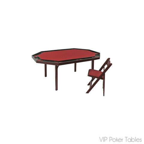 "Poker Table - Kestell Folding 72"" Oak O-872 Poker Table"