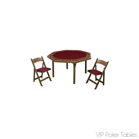 "Poker Table - Kestell Original 52"" Folding Oak O-91 Octagon Poker Table"