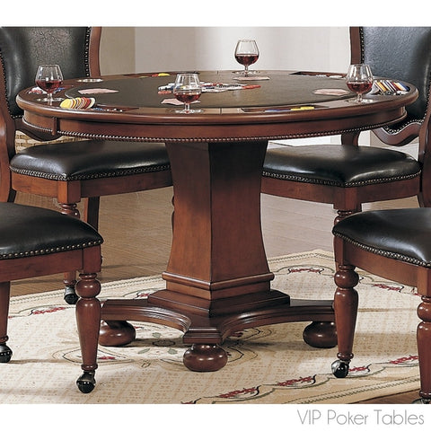 "Poker Table - Sunset Trading 48"" Bellagio CR-87418-63-TB Poker Dining Table"