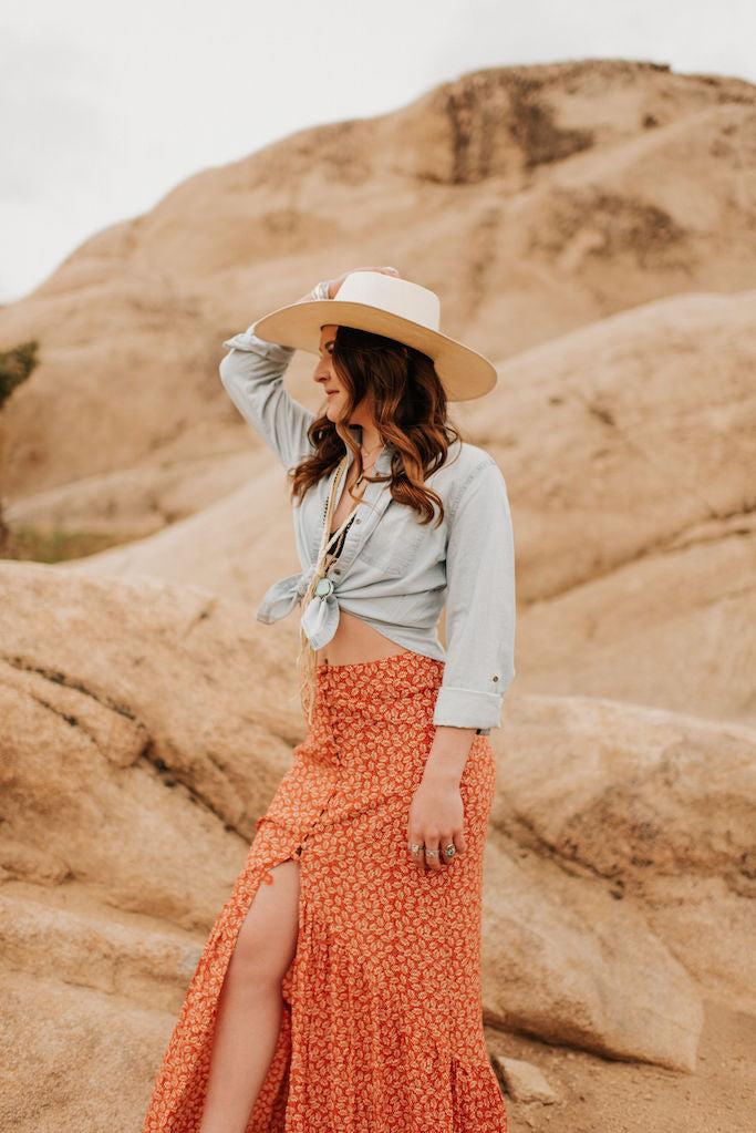Ivy Button Skirt
