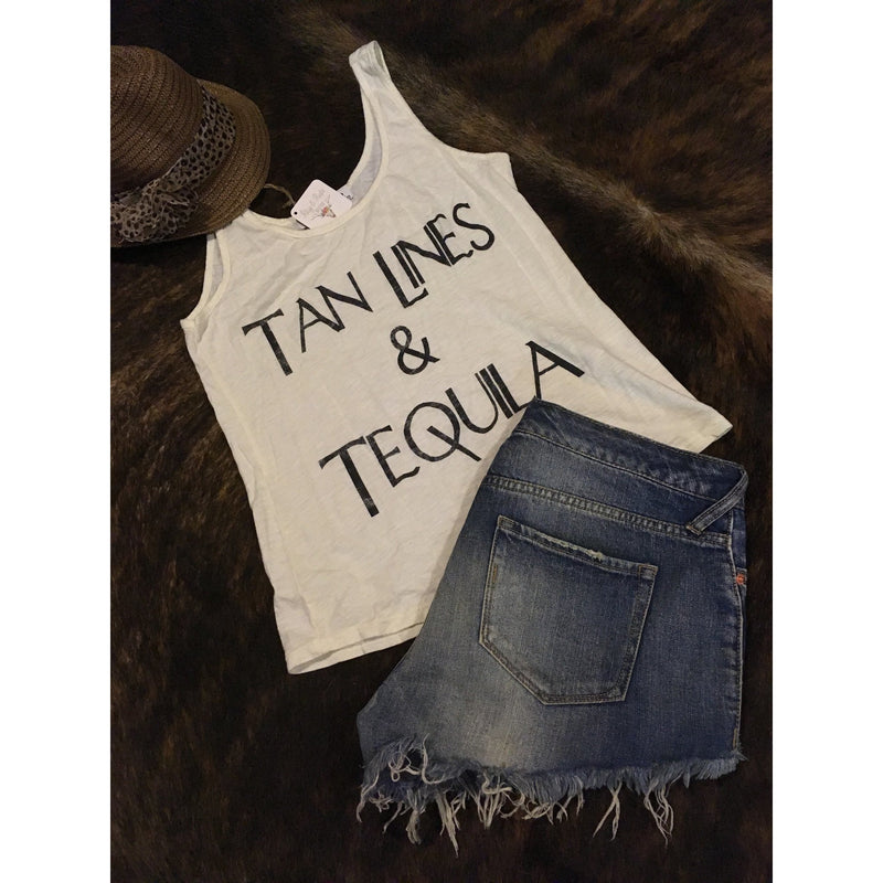 Tan Lines and Tequila Rodeo Tank Top