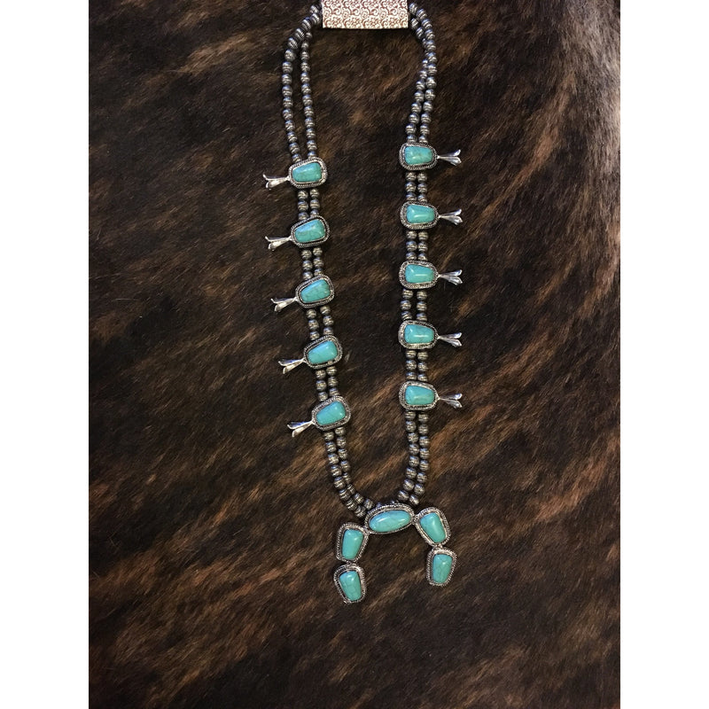 Western Turquoise Jewelry: Blossom Necklace